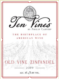 2019 Ten Vines Old Vine Zinfandel